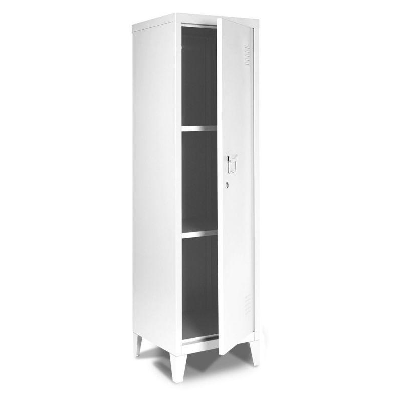 armoire vestiaire estel en metal blanche