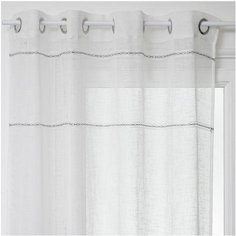 rideau voilage blanc a prix mini