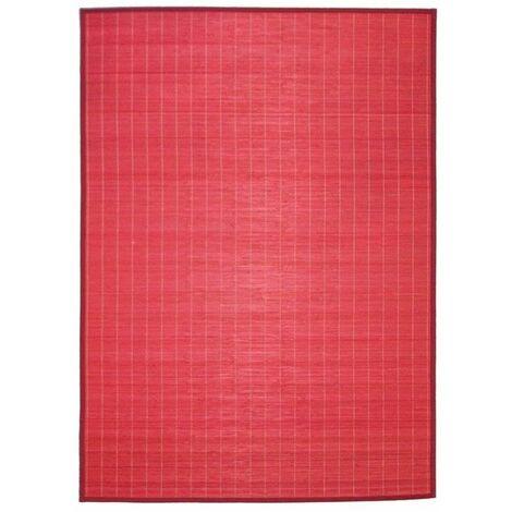 tapis bambou rouge a prix mini