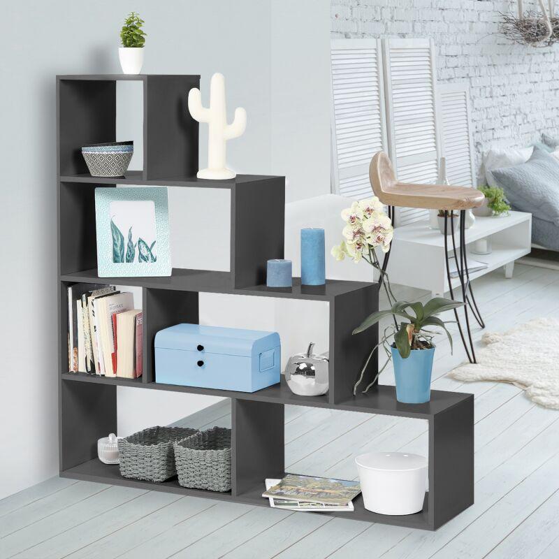 bibliotheque escalier lina bois gris
