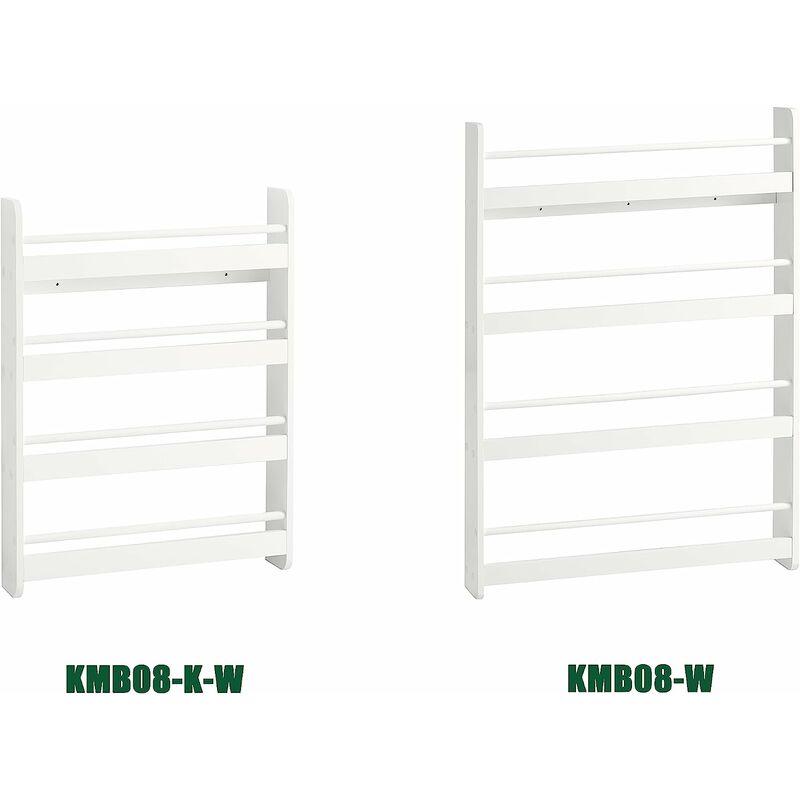 bibliotheque murale etagere a livres enfants etagere de rangement avec 4 etages kmb08 k w sobuy