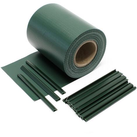 Brisevue Rouleau vert 35mx19cm PVC 450gm avec 20 clipsProtection visuelle Jardin  51491