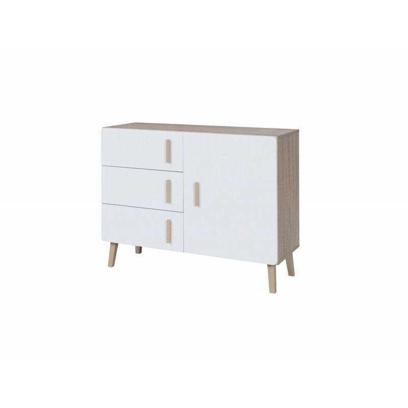 buffet enfilade bahut oslo petit modele meuble design type scandinave effet ultra tendance pour votre salon marron