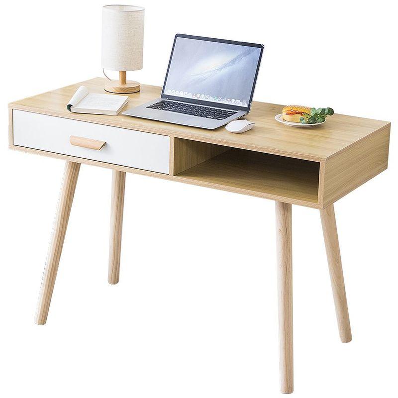 bureau console ordinateur table d appoint 1 tiroir design l 110 cm