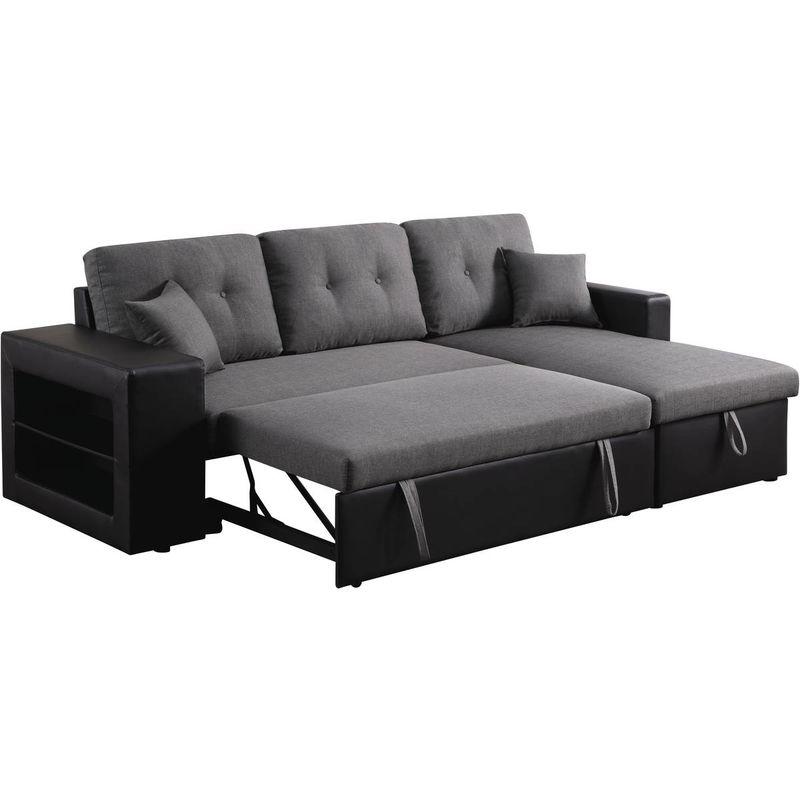 canape d angle convertible reversible axel 3 places noir gris
