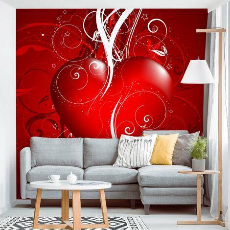 Questo 3d hearts glitter wallpaper utilizza l'ombreggiatura per un effetto 3d e starebbe benissimo come parete caratteristica o se usato per decorare. Carta Da Parati Cuori Al Miglior Prezzo