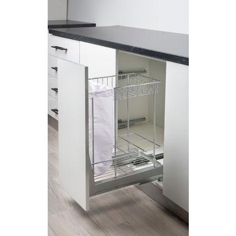 Cestello Estraibile Cucina Dispenser Per Modulo 3040Cm Estrazione Totale Ammortizzato Soft  1015