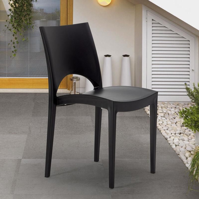 chaise cuisine maison cafe bar en polypropylene empilable paris grand soleil