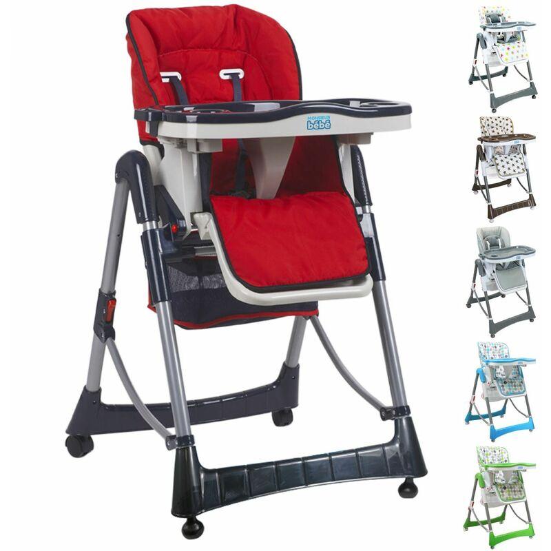 chaise haute bebe pliable reglable hauteur dossier et tablette ptit monsieur bebe