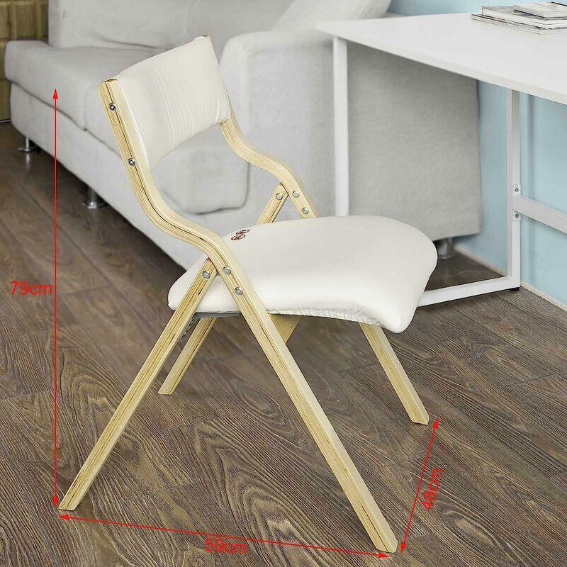 chaise pliante en bois avec assise