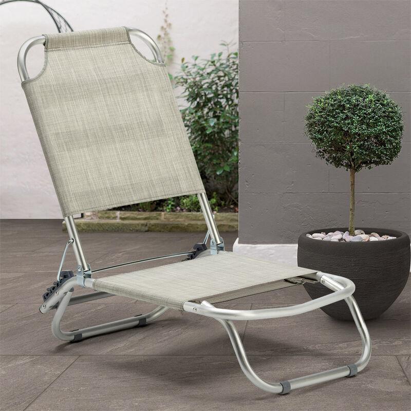 chaise transat de plage pliante piscine aluminium tropical