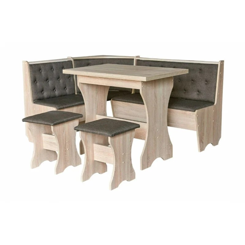 coin repas maxima coin 2 tabourets table 153 5 cm couleur anthracite anthracite