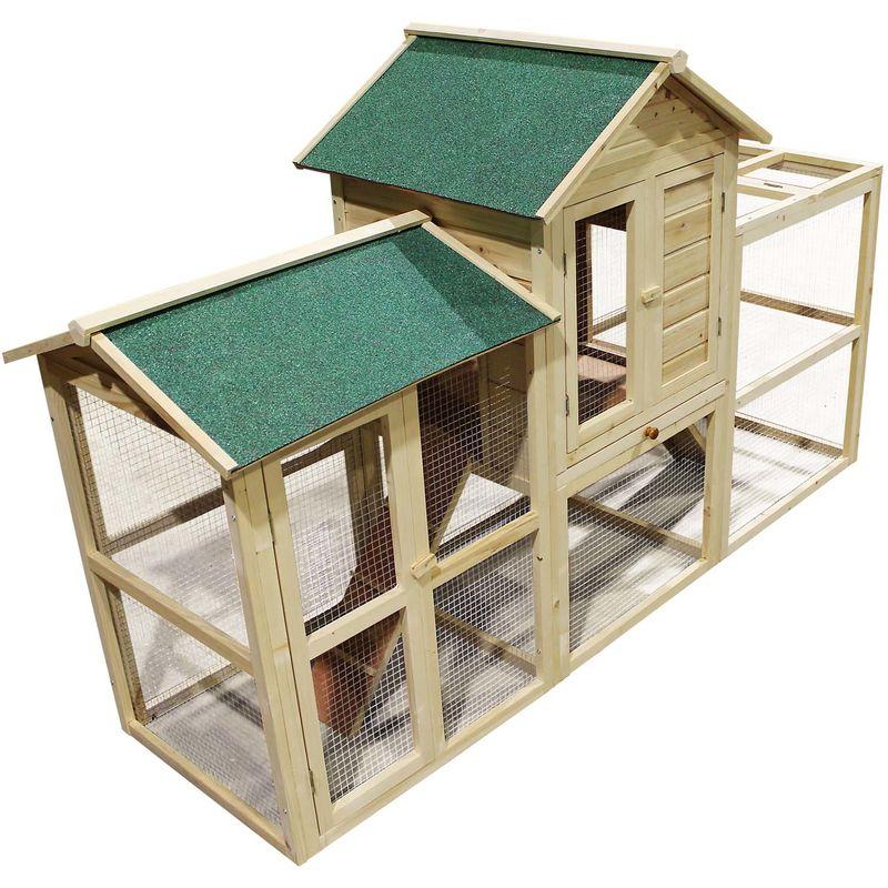 Conigliera gabbia recinto piccoli animali in legno XXL