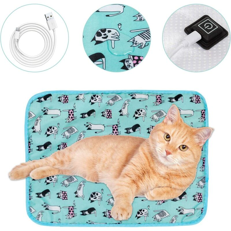 coussin chauffant chat