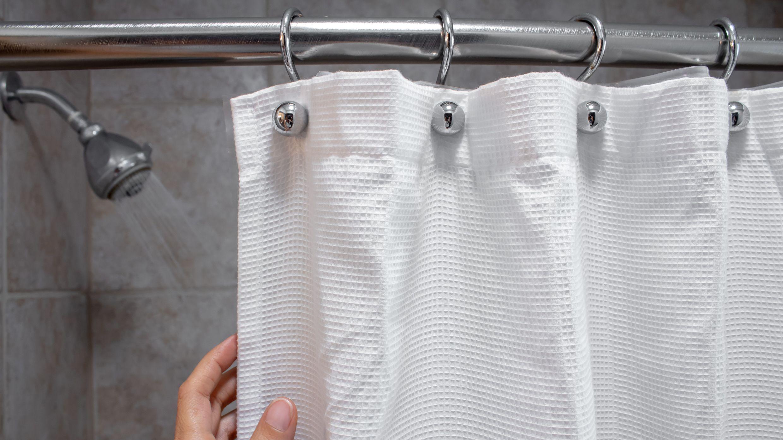 barre et des anneaux pour rideau de douche