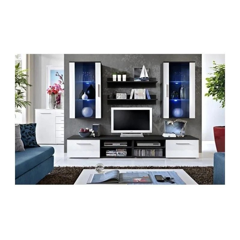 ensemble meuble salon galino g design coloris noir et blanc meuble moderne et tendance pour votre salon blanc