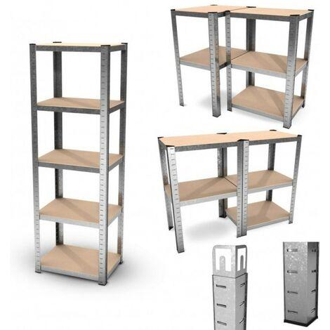 etagere de rangement polyvalente en metal charge lourde max 875kg 180 x 60 x 45 cm gris