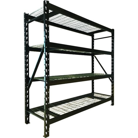 rayonnage d atelier etagere 4 tablettes mi lourd 2t4 s09076