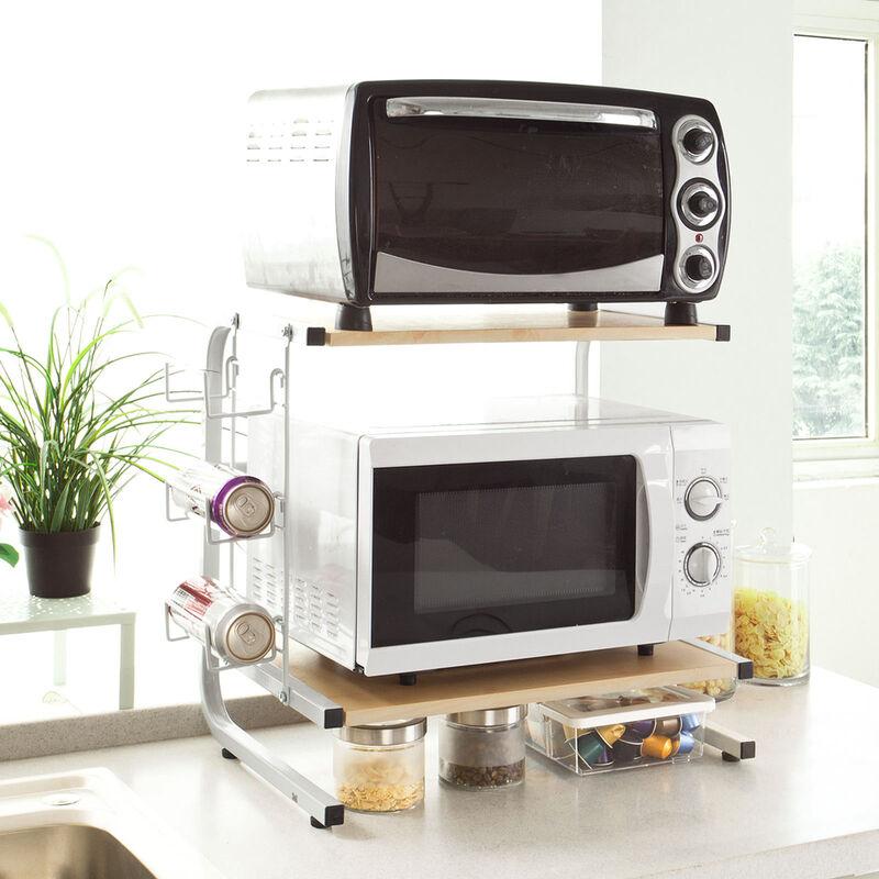 etageres micro ondes de cuisine mini etagere four micro ondes meuble rangement cuisine de service frg092 n sobuy