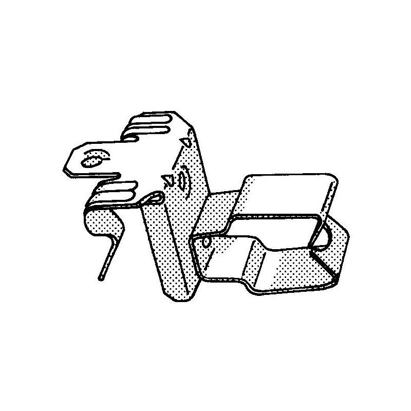 100x FASTCLIP Universal beam clip/conduit clip combination