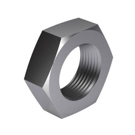 Hexagon thin nut DIN 936 Steel Right Zinc plated 17H M8