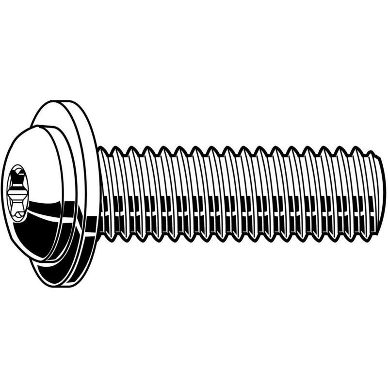 Hexalobular socket button head screw with flange ISO ≈7380