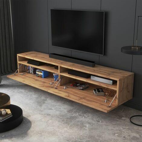 selsey rednaw meuble tv 180 cm chene wotan scandinave moderne