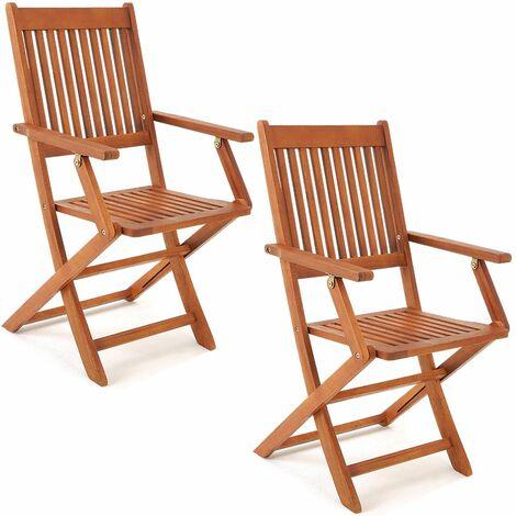 Set 2 sedie da giardino pieghevoli in ferro con mosaico zeus. Deuba Sedie Da Giardino Set Di 2 Sydney Pieghevoli In Legno Di Acacia Con Braccioli Certificazione