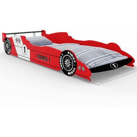 lit enfant voiture formule 1 f1 rouge
