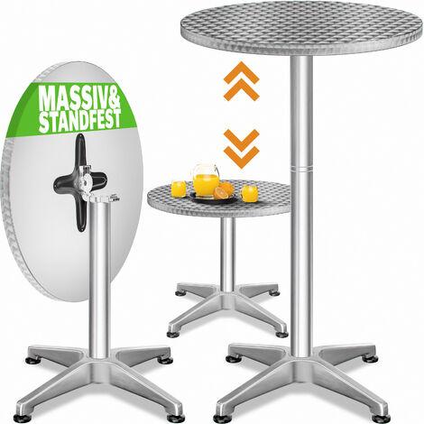table de bar 2en1 alu hauteur reglable 70cm 110cm cuisine jardin terrasse reglable en hauteur pliable