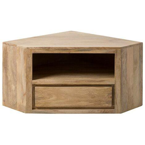 meuble tv en angle 1 tiroir 1 niche