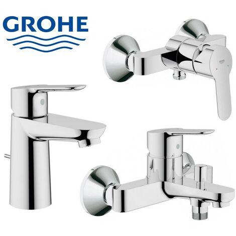 grohe bauedge mitigeur bain douche lavabo inverseur pour 2 sorties