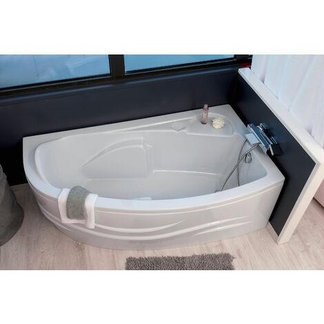 baignoire fany baignoire d angle 160x90cmd abs et acryl renforce 3mm blanc