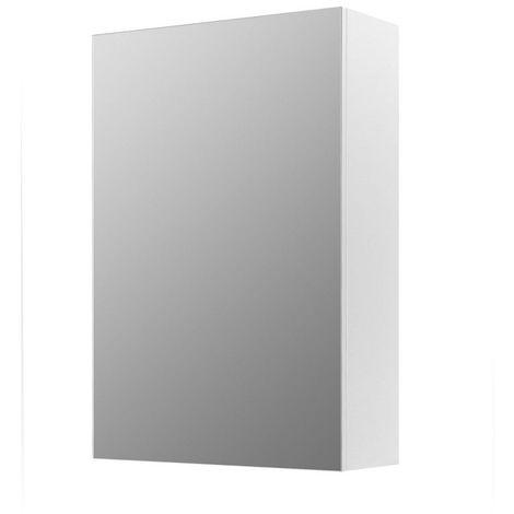 armoire de toilette modele classique 60 cm x 40 cm hxl blanc