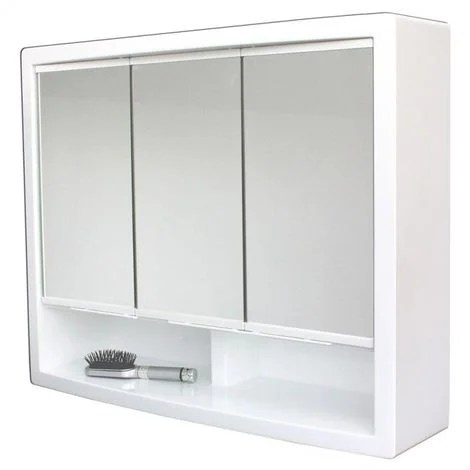 Armoire De Toilette Modele Le Discret 51cm X 62 Cm Hxl Blanc 3283421660931