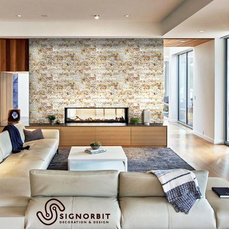 I profili delle pareti in finta pietra per interni possono essere a pannelli, squadrati oppure irregolari. South Stone Pannelli Parete In Abs Finta Pietra Effetto 3d 100x60cm X 0 6mm 1 Pannello 0 60 Mq