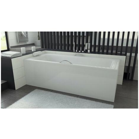 baignoire veneto mini avec tablier 100 110 120 130 x 70 cm dimensions 100cm blanc