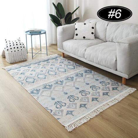 tapis de boheme tapis de sol tapis de coton et lin 60 90cm type a