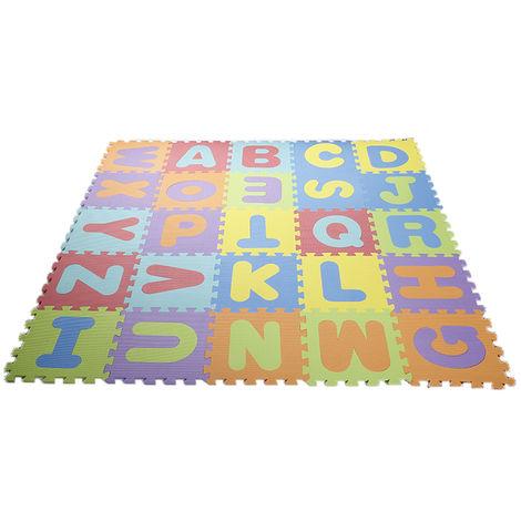 tapis lettre mousse