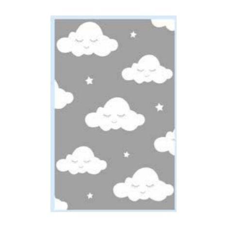 tapis nuage bleu coloris bleu dimensions 80x150