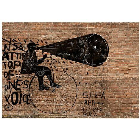 347725 carta da parati pittura a gesso linee grafiche blu scuro. Fotomurale Carta Da Parati City News 100x70