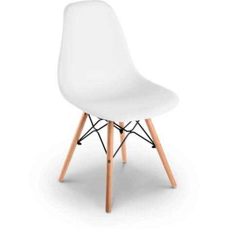 sedie da soggiorno | meka arredamenti. Sena Blanca X4 Pack Di 4 Sedie Da Pranzo Bianche Design Nordico Sedie Tower Per Soggiorno