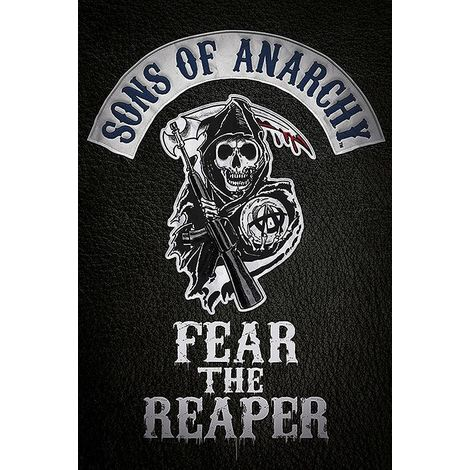 sons of anarchy poster fear the reaper logo