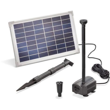 pompe solaire pour bassin 12w 650 l h pompe solaire pour bassin de jardin fontaine esotec 101912