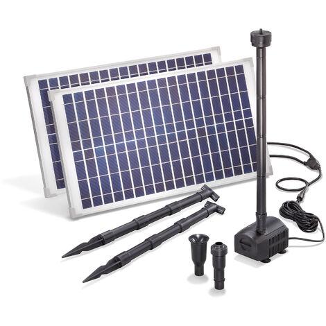 pompe solaire pour bassin 50w 1750 l h pompe solaire pour bassin de jardin fontaine esotec 101916