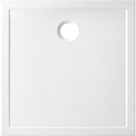 receveur ceramique antiderapant ancodesign blanc 80x80 ep 3 5cm