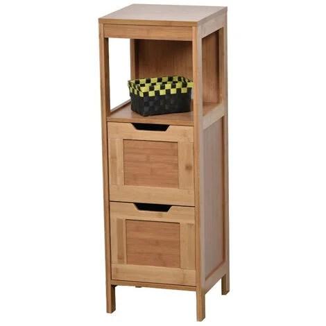 meuble bas 2 tiroirs en bambou collection mahe