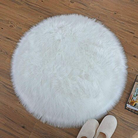 tapis rond 90 diametre tapis en fausse fourrure cozy sensation comme veritable laine tapis en fourrure synthetique man made laine tapis de canape