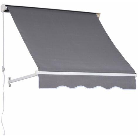 Trova una vasta selezione di tende da sole a prezzi vantaggiosi su ebay. Outsunny Tenda Da Sole Avvolgibile Da Esterno Angolazione Regolabile Grigio 70 L X 122 A Cm