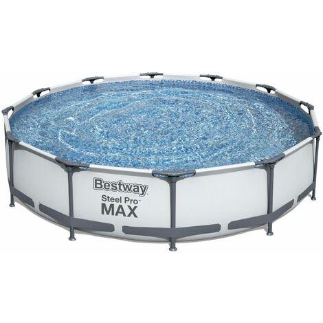 piscine tubulaire bestway opalite grise piscine ronde o3 6m avec pompe de filtration piscine hors sol armature acier